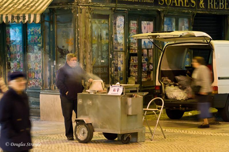 Wed 3/16 in Lisbon:  Chestnut vendor