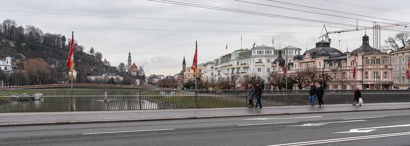 Staatsbrucke Bridge over the Salzach River
