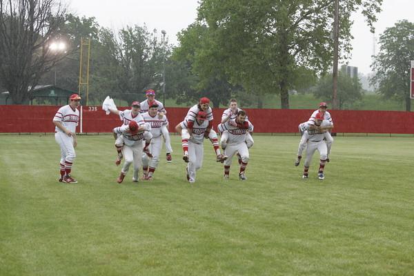 OHS Varsity Baseball Rain Out Action 05282015