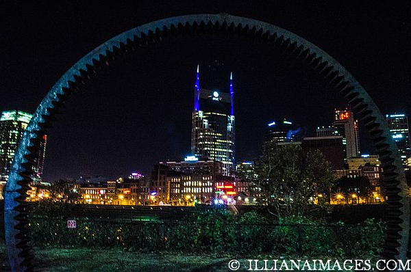 Nashville 2018 Cityscape from across the river