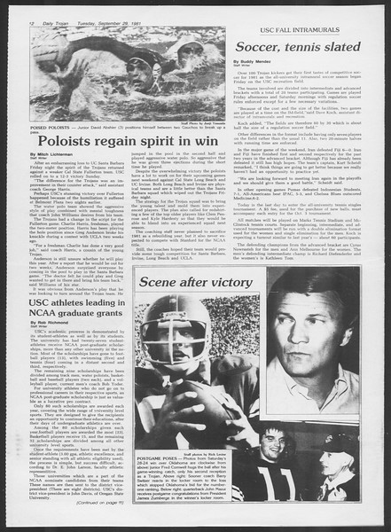 Daily Trojan, Vol. 91, No. 20, September 29, 1981