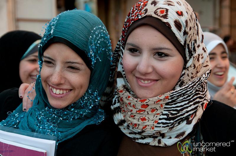 Egyptian Women Students in Alexandria, Egypt