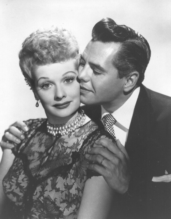". In this undated image, comedian-actress Lucille Ball and her husband, musician-actor Desi Arnaz  from the comedy series, ""I Love Lucy,\"" are shown.  (AP Photo/file)"