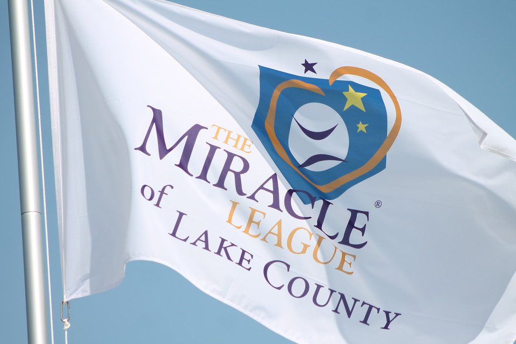 . Kristi Garabrandt � The News-Herald <br> The Miracle League of Lake County kicked off it\'s inaugural season with a dedication ceremony for the Lake Health Miracle Park and Lubrizol Miracle Playground located at Classic Park in Eastlake. The ceremony was followed by the league\'s first three ball games.  The ball park was full of laughter and excitement as anxious parents watched to see many of the kids play their first baseball games.  The event was described by Elfie Roman, superintendent for Lake County Board of MRDD as a wonderful celebration of Lake County\'s inclusive and collaborative spirit. The inclusive ball park has been in the works for two years while the Board of Directors, The Lake County Captains and Eastlake Mayor Dennis Morley worked to raise the $1.2 million needed to build it.The funds were raised through fundraisers and community partner contributions.