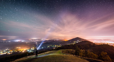 Northern Lights over Malvern Hills - full set