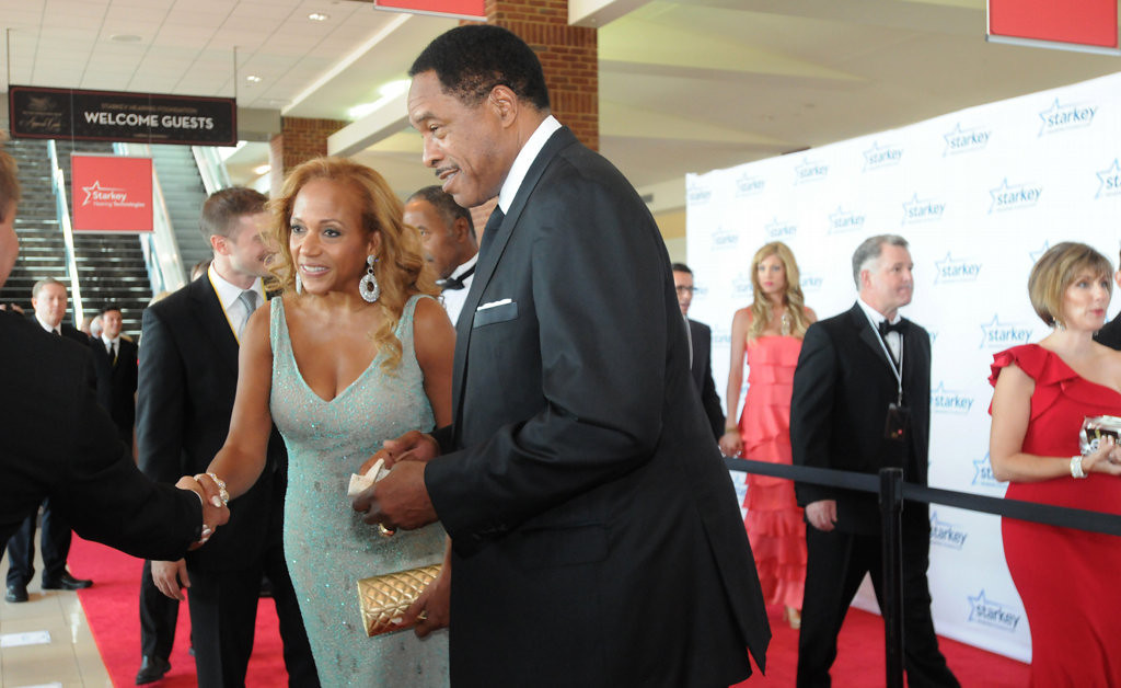 . Tonya Winfield and her husband, former Minnesota Twin Dave Winfield, walk the red carpet during the annual Starkey Hearing Foundation gala. (Pioneer Press: Ginger Pinson)