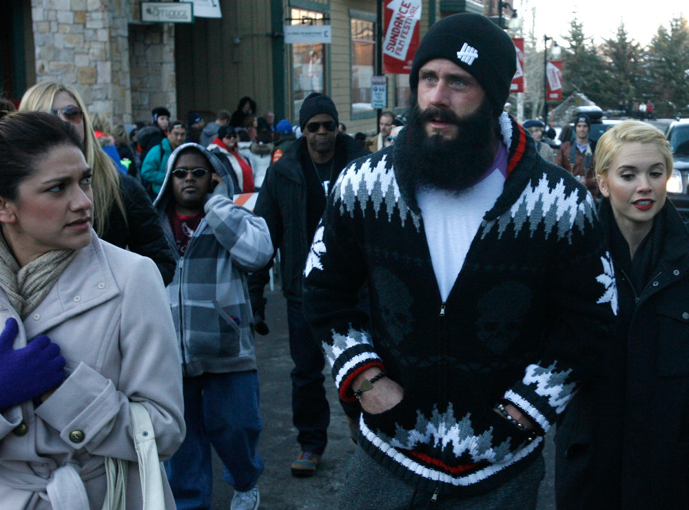 ". Rick Egan  | The Salt Lake Tribune   San Francisco Giants pitcher ""fear the beard\"" Brian Wilson walks down on lower Main Street in Park City, Saturday, January 19, 2013."