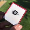1.19ct Vintage Emerald Cut Diamond Onyx Ring, GIA E VS2 16