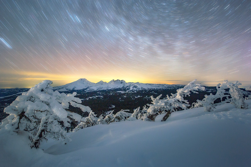 Star Trails over the Cascade Mountains