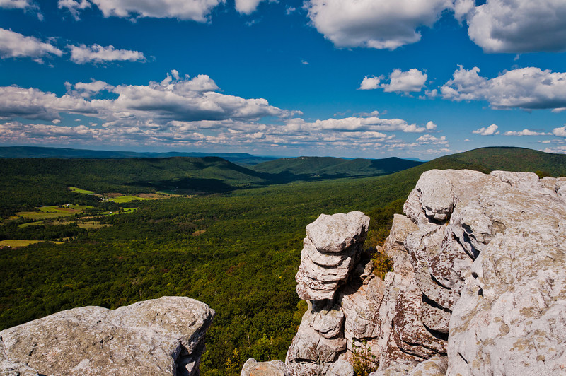 View from Cliffs on Big Schloss, George Washington National Forest, Virginia