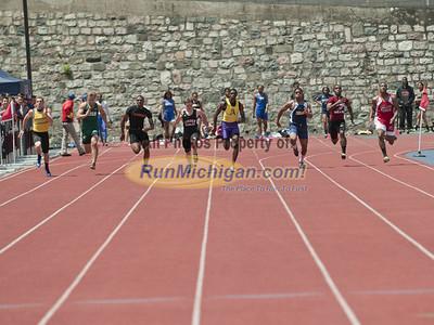 100M Dash Finals - 2012 MHSAA LP D2 T&F Finals