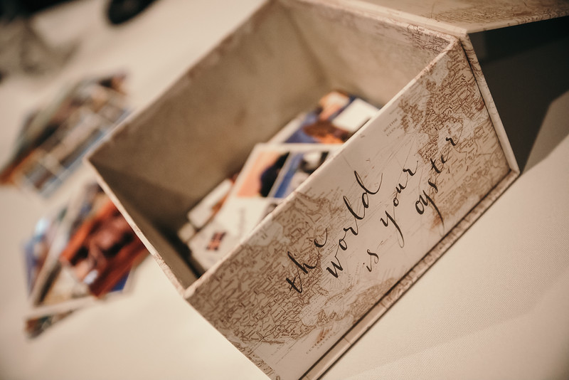 Postcard guestbook
