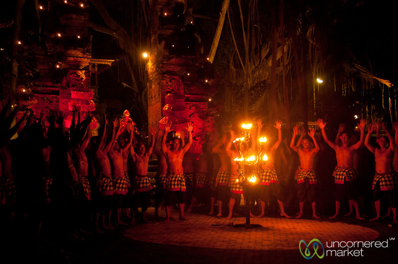 Performers Chant at Kecak Show - Ubud, Bali