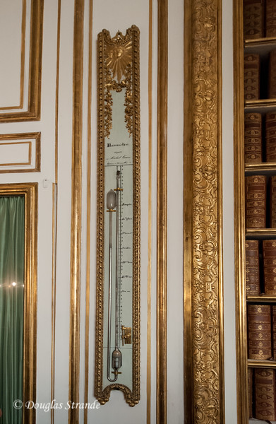 Inside the Chateu Versailles: a mercury barometer