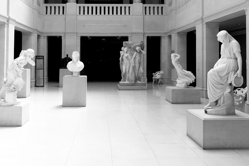A sculpture hall in the Art Institute