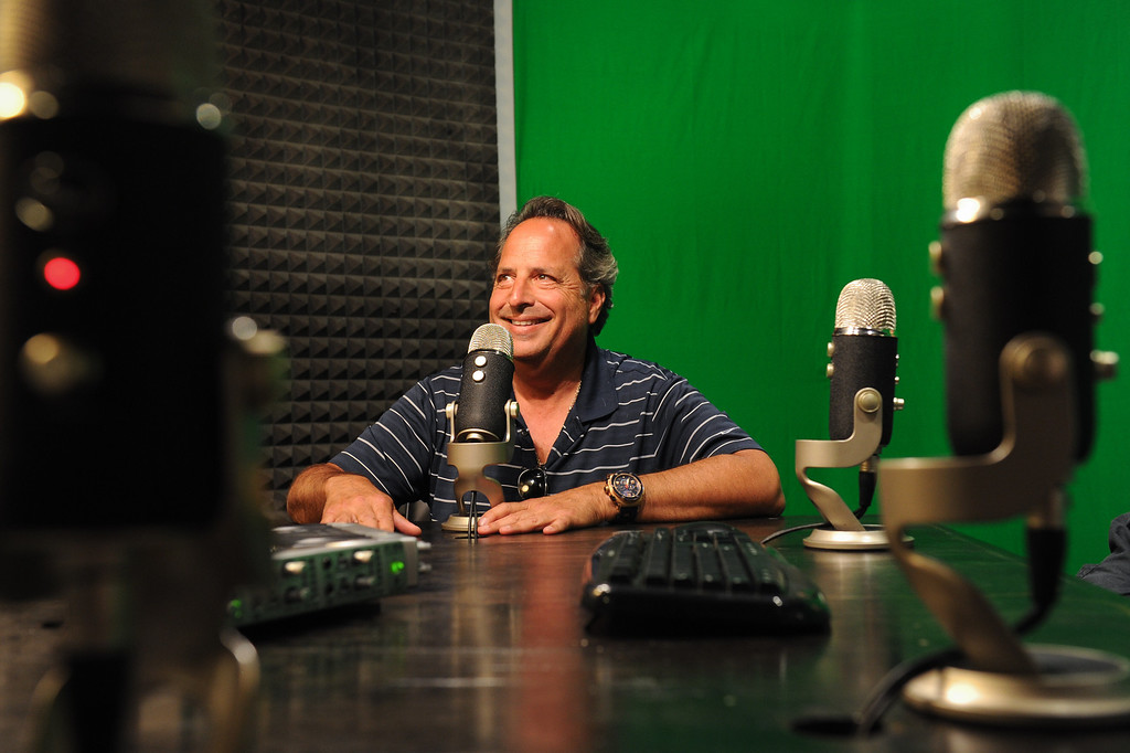 . Jon Lovitz checks out the setup in his new vodcast room at the Jon Lovitz Comedy Club & Podcast Theatre at Universal CityWalk. Friday, June 28, 2013. (Michael Owen Baker/L.A. Daily News)