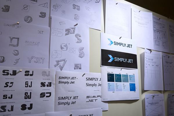 Simply Jet , identité visuelle