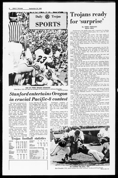 Daily Trojan, Vol. 61, No. 10, September 26, 1969