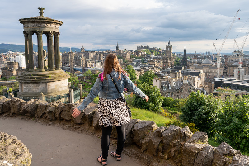 Amanda at Calton Hill in Edinburgh