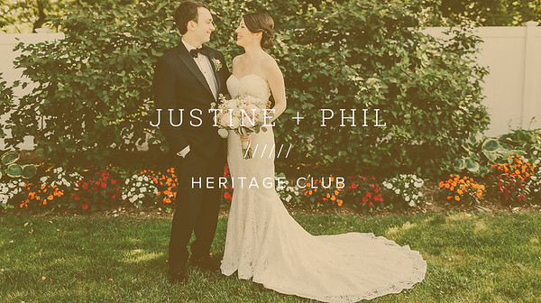 JUSTINE + PHIL ////// HERITAGE CLUB