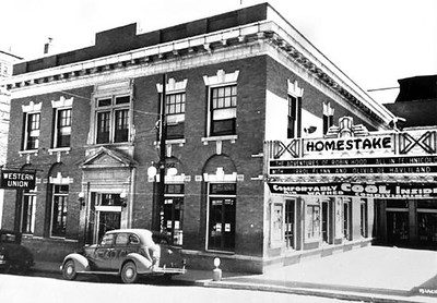 This is how the opera house appeared in the 1930s.  It was built in 1914. The theatre seated 1,000 people.  The structure also had a heated summing pool, billiard hall, library, and bowling alley!