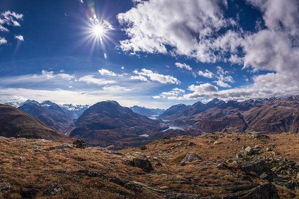 Herbstbilder und Sommerbilder vom Muottas Muragl-Alp Languard im Engadin