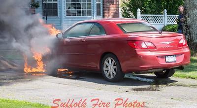 Mastic Car Fire Church Dr [6/21/17]