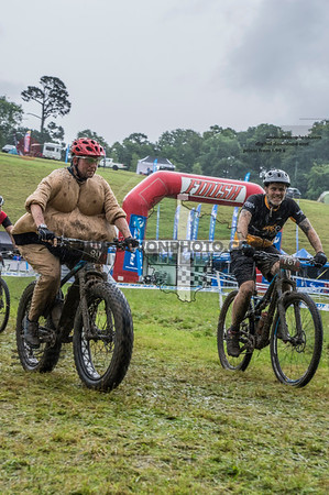 At start, first obstacle and finish