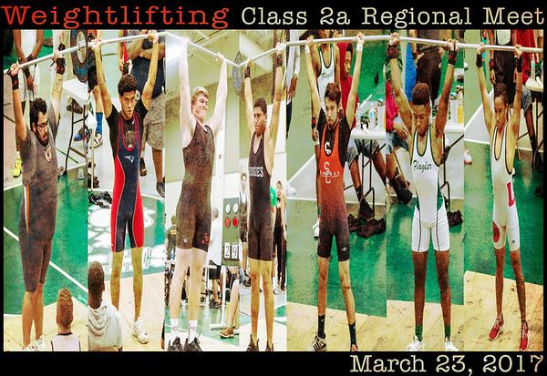 2017 Boys Weightlifting Class 2A Regional Meet