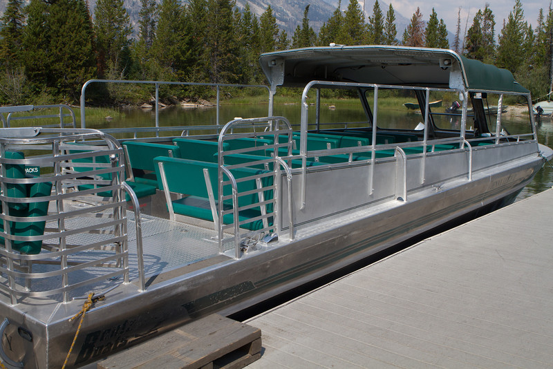 We went to Jenny Lake to take the shuttle boat across the water to the trailhead.