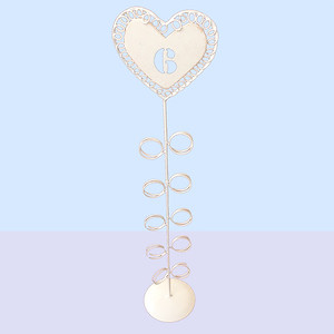 28310 High standing heart table number supports