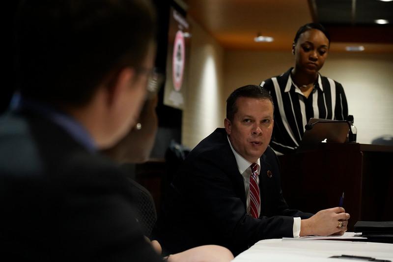 Dr. Downs meets SGA Representatives