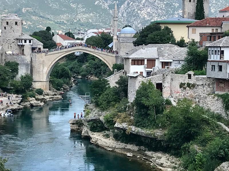 a jump from the Mostar bridge