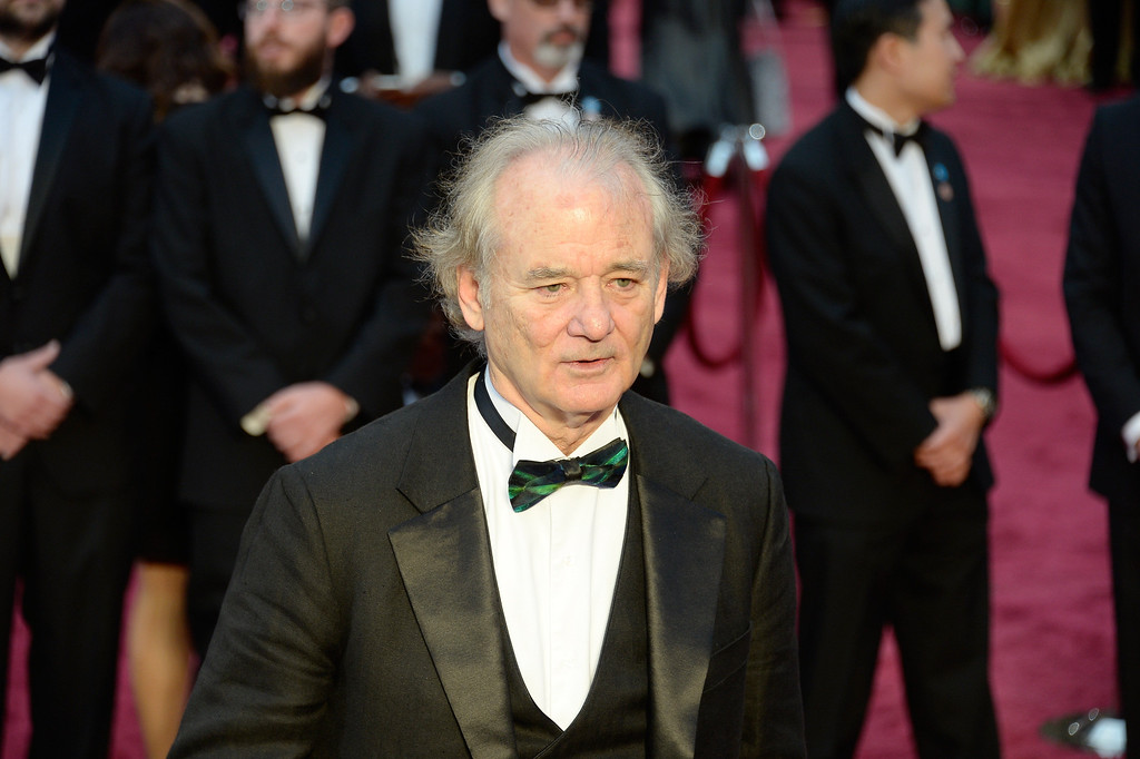 . Actor Bill Murray attends the Oscars held at Hollywood & Highland Center on March 2, 2014 in Hollywood, California.  (Photo by Kevork Djansezian/Getty Images)