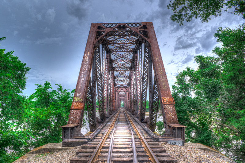Truss Bridge Over The Red River
