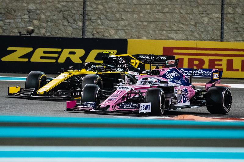 Sergio PEREZ overtaking Nico Hulkenberg, UAE/Abu Dhabi, 2019