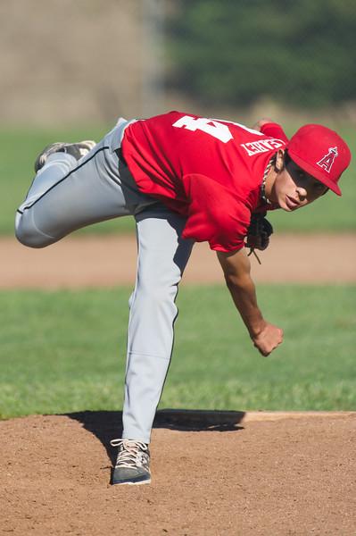 Roseville West Little League Jr. Angels vs Cubs 4-25-16