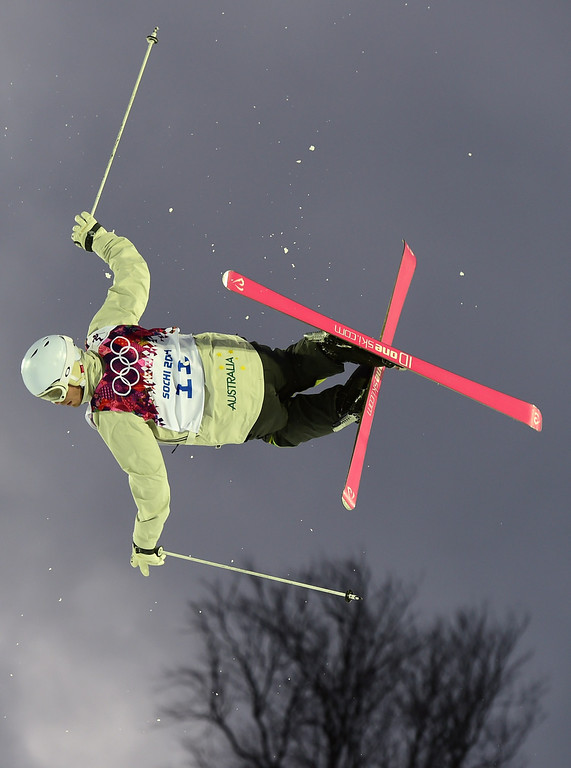. Australia\'s Dale Begg-Smith competes in the Men\'s Freestyle Skiing Moguls qualifications at the Rosa Khutor Extreme Park during the Sochi Winter Olympics on February 10, 2014.      AFP PHOTO / JAVIER SORIANO/AFP/Getty Images