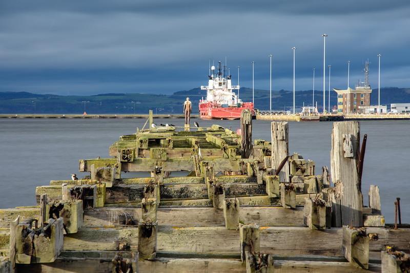 Derelict pier in Leith Harbour