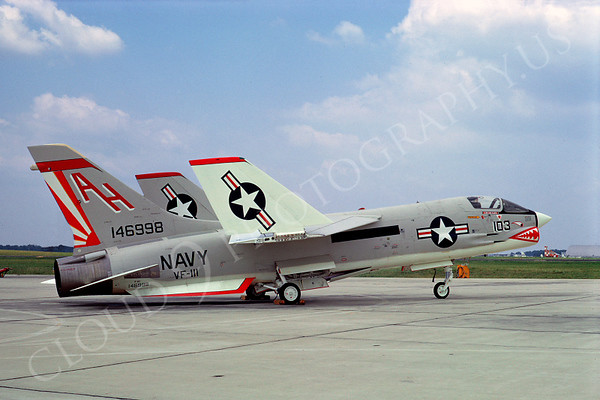 Sharkmouth Vought F-8 Crusader Airplane Pictures