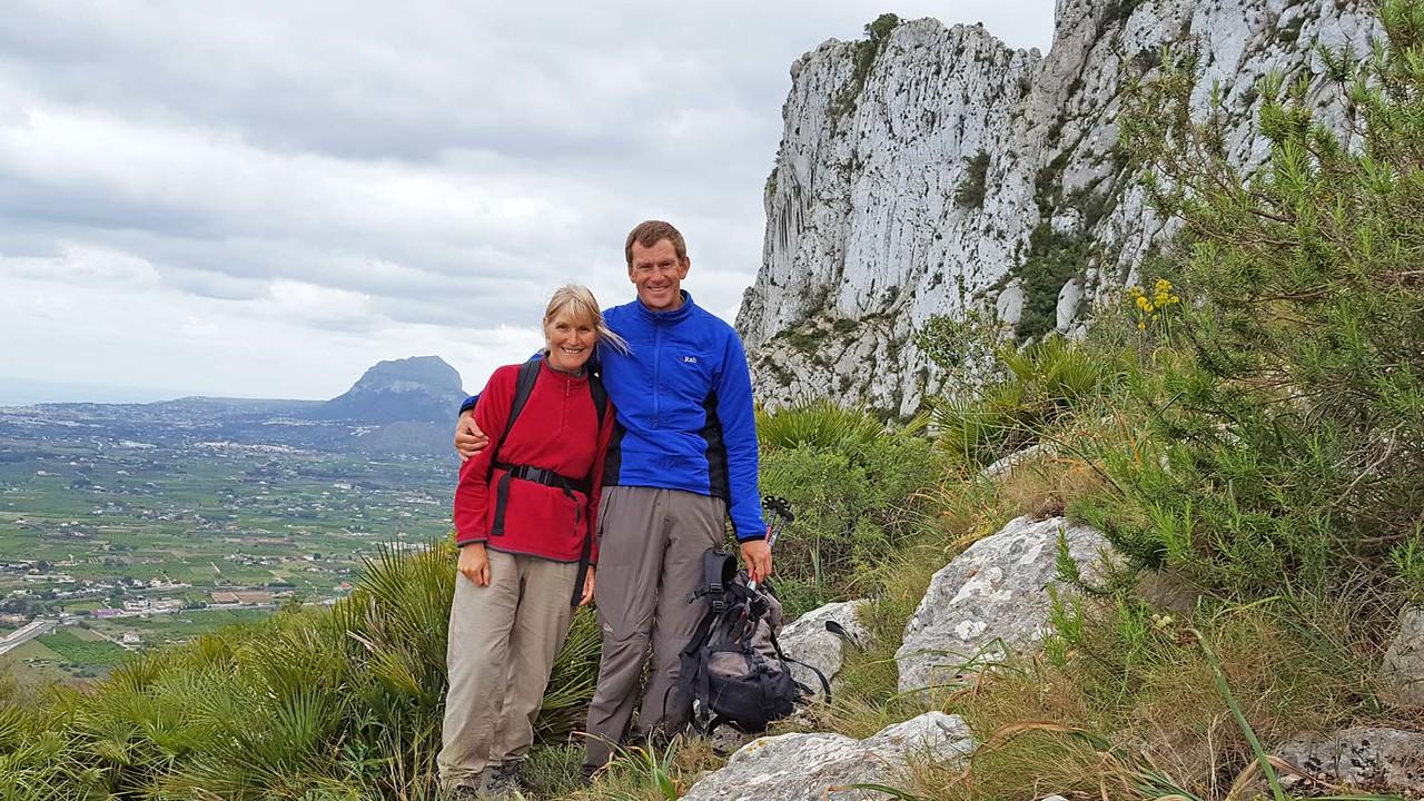 Terryl and Darrell near Morro de les Coves, Segaria