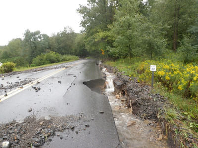 SNAKE ROAD MOUNT CARMEL TOWNSHIP WASH OUT 9-8-2011 PICTURES BY COALREGIONFIRE