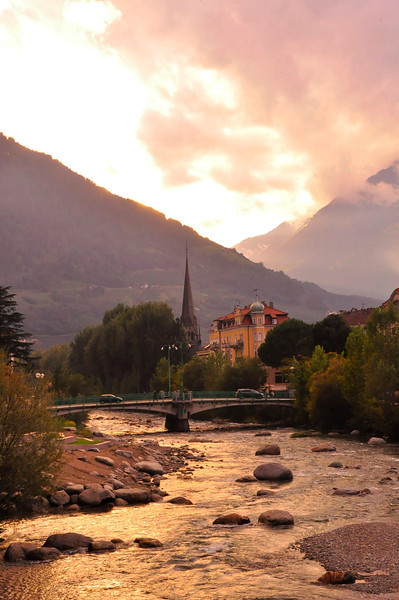 late afternoon clearing weather in Merano
