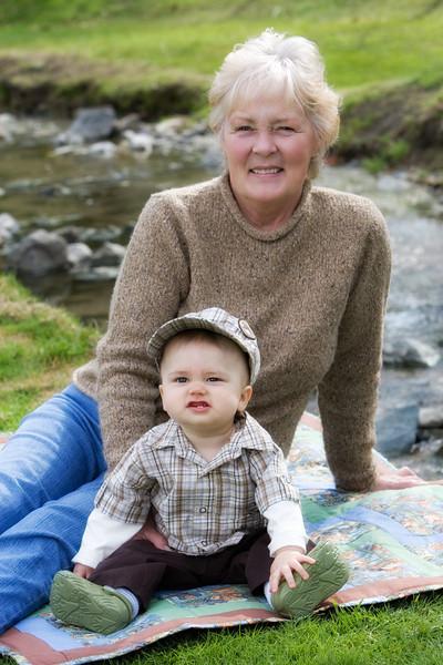 Hunter, Mom, & Grandma 3/5/10