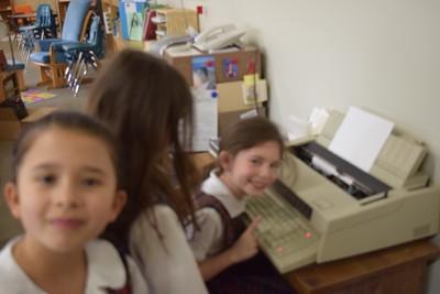 First Grade meets historic technology