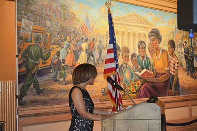 """Kansas Capital Mural"" unveiling May 16, 2018"