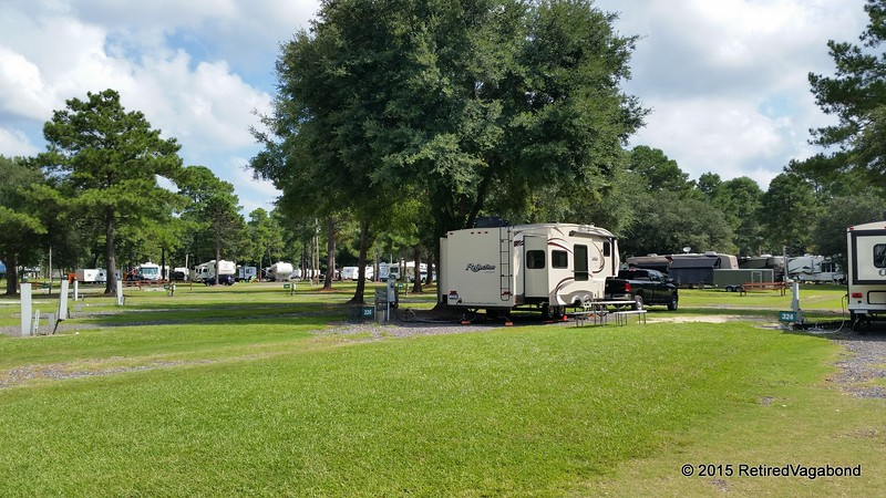 Camp near Savannah Georgia