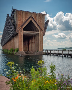 Vintage Iron Ore Ship Loading Station