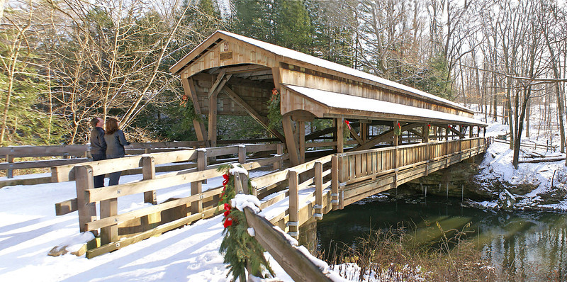 Covered Bridge at Mill Creek Park, Youngstown, OH.