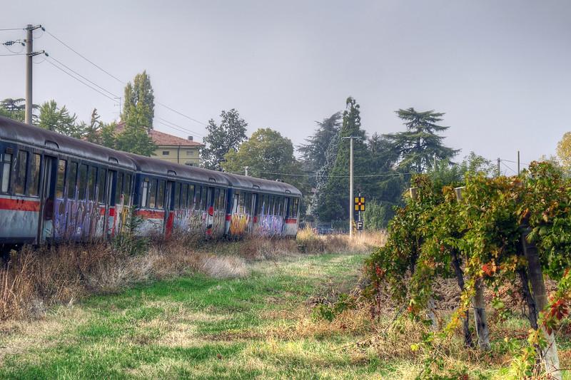 Reggio Sassuolo Train - Pratissolo, Scandiano, Reggio Emilia, Italy - October 31, 2011
